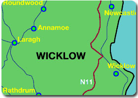 Map of Wicklow